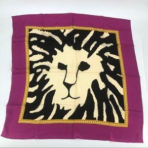"""Anne Klein Vintage Silk Scarf 30"""" Square Pink"""